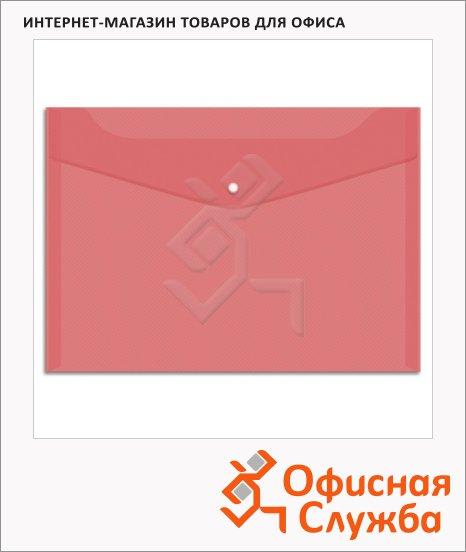 Папка-конверт на кнопке Office Space красная, А4, Fmk12-4