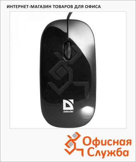 Мышь проводная оптическая USB Defender NetSprinter 440 черная, 1000dpi, 52440