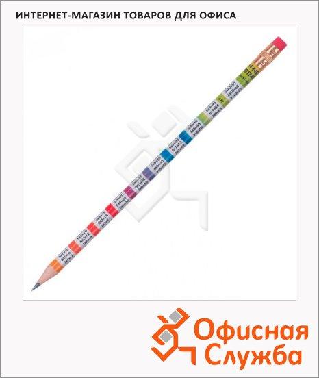 Карандаш чернографитный Koh-I-Noor Таблица умножения HB, заточенный, с ластиком