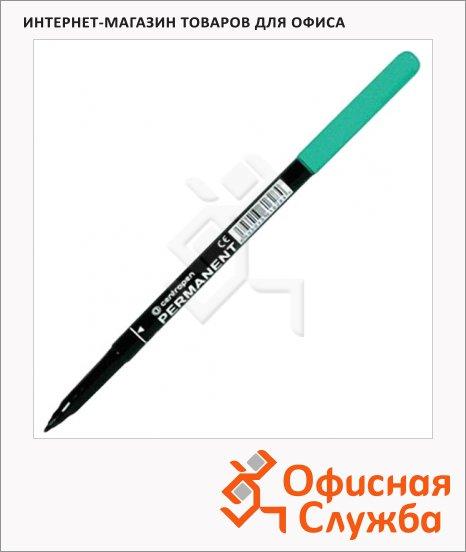 Маркер перманентный Centropen 2536 зеленый, 1мм, пулевидный наконечник