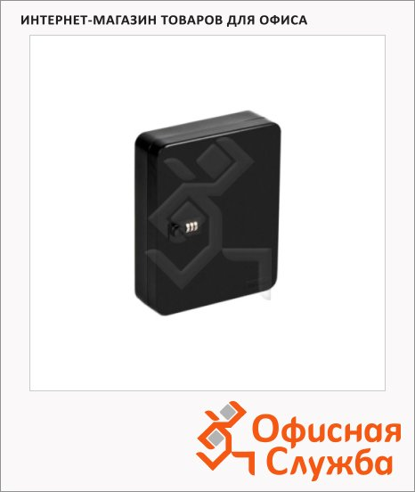 Шкафчик для ключей Office Force на 36 ключей, кодовый замок, черный, 300х240х80мм