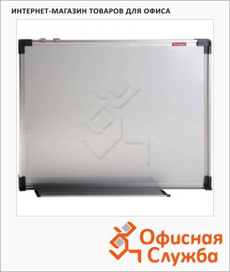 Доска магнитная маркерная Berlingo 90х120см, белая, пластик, алюминиевая рама, полочка