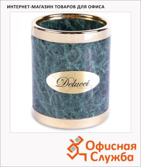 Органайзер настольный Delucci зеленый мрамор