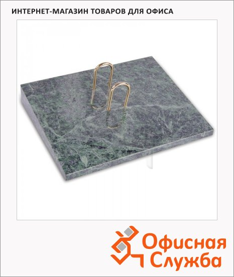 фото: Подставка под перекидной календарь Delucci зеленый мрамор