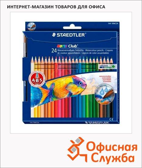 Набор акварельных карандашей Staedtler Noris Club 24 цвета, 14410NC24