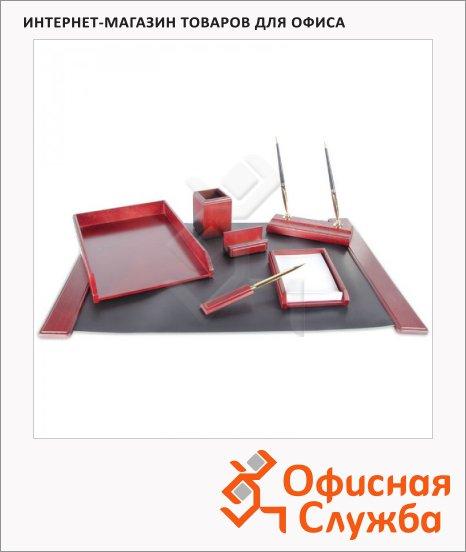 фото: Набор настольный Delucci 7 предметов красное дерево