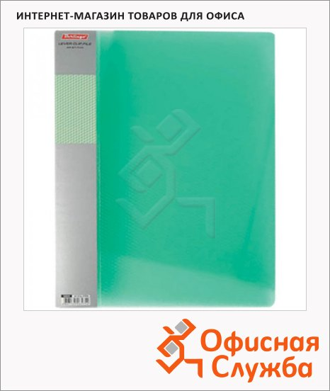 Пластиковая папка с зажимом Berlingo Diamond зеленая, А4, 17мм, ACp_01004