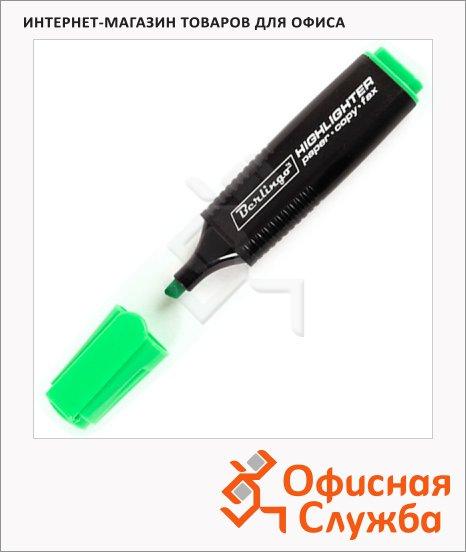 фото: Текстовыделитель Berlingo зеленый 1-5мм, скошенный наконечник