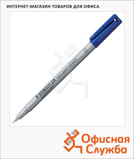 Маркер стираемый Staedtler Lumocolor синий, 0.4мм, круглый наконечник