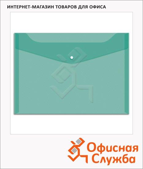 Папка-конверт на кнопке Office Space зеленая, А4, Fmk12-3