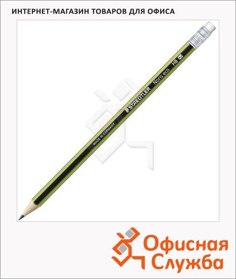Карандаш чернографитный Staedtler Noris Eco HB, с ластиком