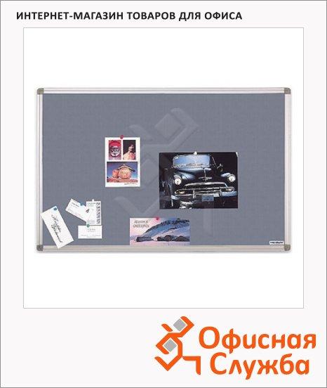 фото: Доска текстильная Magnetoplan 11005B 120х90см системная рама ferroscript, серая