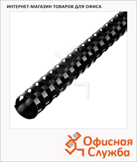 фото: Пружины для переплета пластиковые Profioffice черные кольцо, 50шт, на 420-470 листов, 51мм
