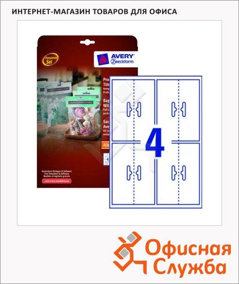 фото: Топперы и упаковки L7112-10 белые, 137х48мм, 4шт на листе А4, 10 листов, 40шт, для всех видов печати