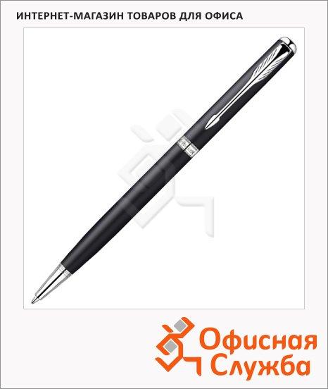 Ручка шариковая подарочная Parker Sonnet Matte Black СT Slim черная, 1мм