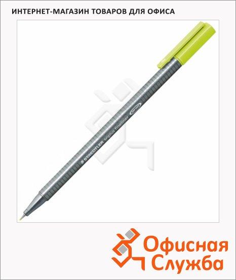 Ручка капиллярная Staedtler Triplus Fineliner 334, 0,3мм, зеленый лайм