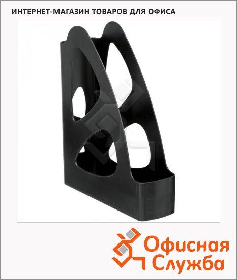 Накопитель вертикальный для бумаг Стамм Парус А4, 80мм, черный, ЛТ132