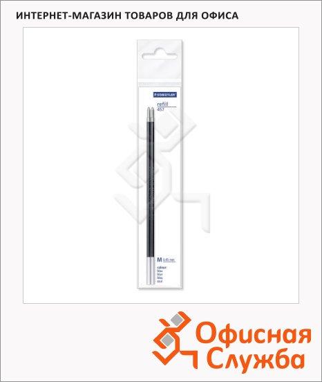 фото: Стержень для шариковой ручки Staedtler 457M-9 М 0.45мм, 2шт, черный