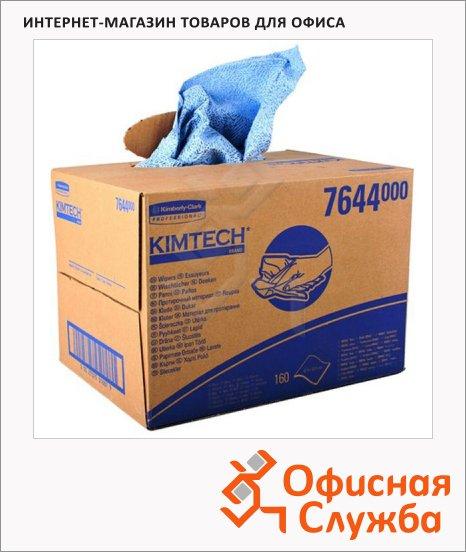 Протирочные салфетки Kimberly-Clark Kimtech 7644, листовые, 160шт, 1 слой, синие