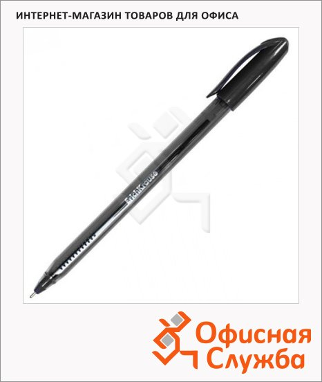 Ручка шариковая Erich Krause Ultra Glide Technology U-18 черная, 1мм, 32535