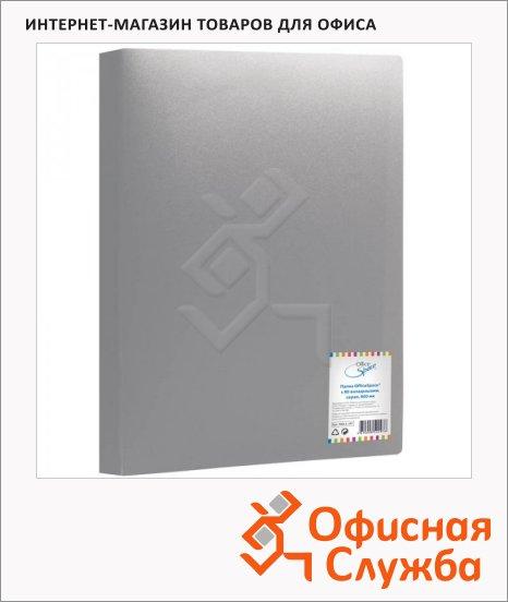 Папка файловая Office Space серая, A4, на 80 файлов, F80L4_297