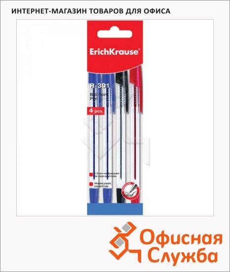Набор ручек шариковых Erich Krause R-301 3 цвета, 0.5мм, 4шт
