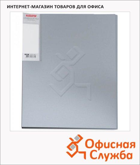 фото: Папка пластиковая с зажимом Metallic серебристая А4, 14мм, ACn_10713
