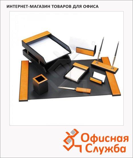 фото: Набор настольный Delucci 8 предметов светло-черный
