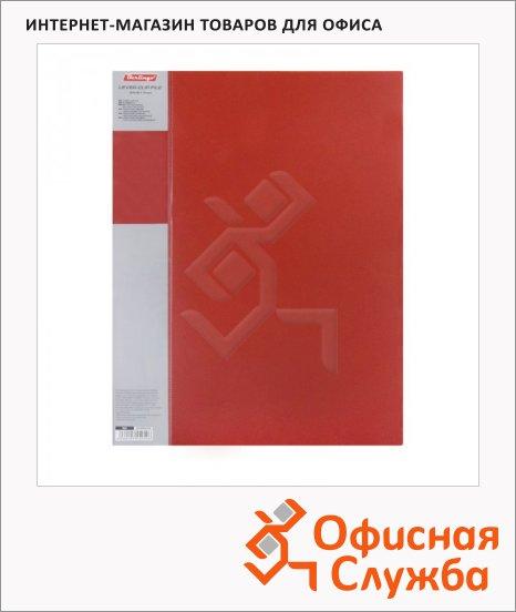 Папка пластиковая с зажимом Berlingo Standard красная, А4, 17мм, MM2338