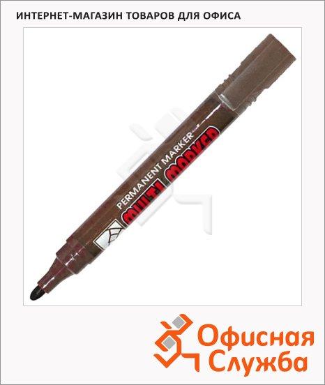 Маркер перманентный Crown Multi Marker коричневый, 3 мм, пулевидный наконечник