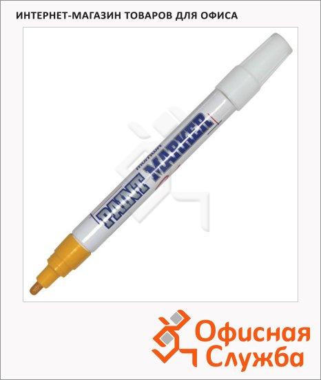 Маркер-краска Munhwa желтый, пулевидный наконечник, нитро-основа, 4 мм