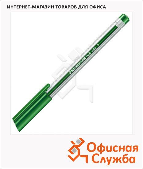 Ручка шариковая Staedtler Ball F зеленая, 0.3мм