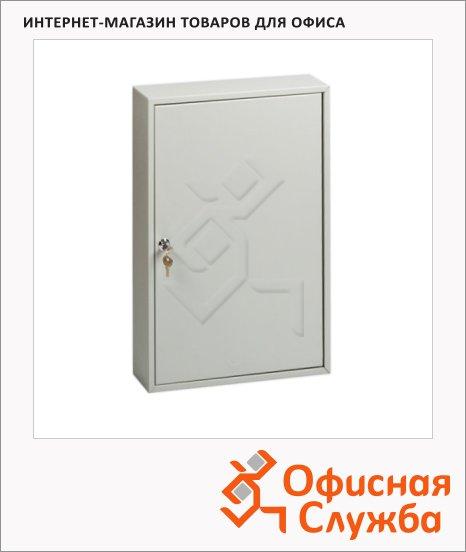 Шкафчик для ключей Office Force на 50 ключей, серый, 550х380х80мм