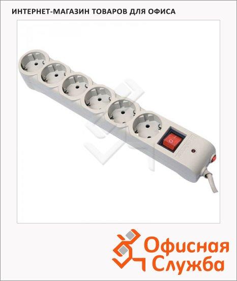 Сетевой фильтр Defender DFS-605 6 розеток, 5м, белый