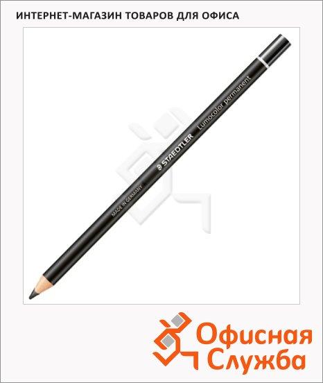 Карандаш перманентный Staedtler Lumocolor черный