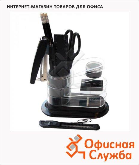 Органайзер настольный Office Space Веер 11 предметов, черный