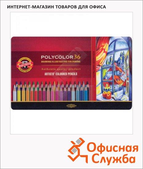 фото: Набор цветных карандашей Koh-I-Noor Polycolor 36 цветов художественные