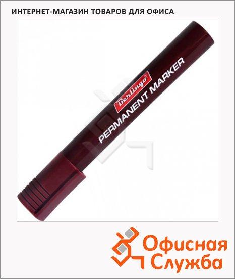 Маркер перманентный Berlingo коричневый, 1.5мм, пулевидный наконечник