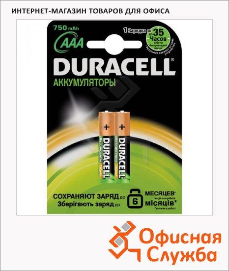фото: Аккумулятор Duracell AAА/HR03 750mAh, 2шт/уп