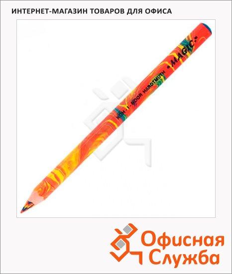 Карандаш многоцветный Koh-I-Noor Magic многоцветный, заточенный, утолщенный