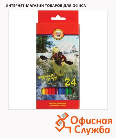 фото: Набор цветных карандашей Koh-I-Noor Спорт 24 цвета 3554