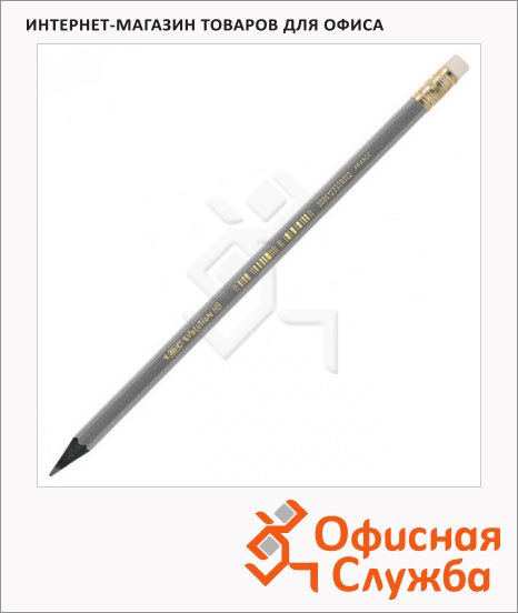 Карандаш чернографитный Bic Evolution Black HB, с ластиком, 918484
