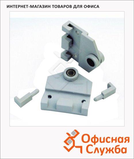 фото: Роликовые крючки для навешивания системных досок Magnetoplan 1111530 R 2шт серые, пластиковые