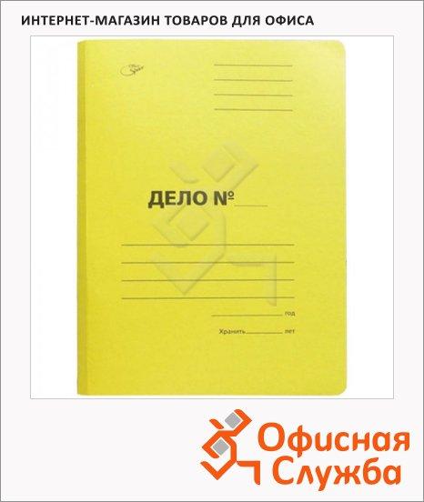 Скоросшиватель картонный Office Space Дело желтый, А4, A-SD30Y_3171