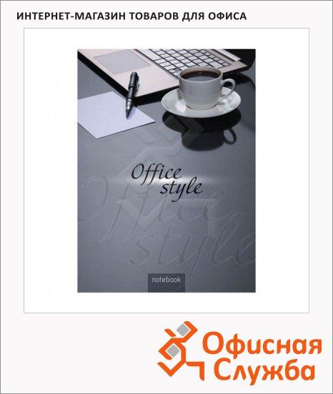 Блокнот Office Space Office Style, А4, 80 листов, в клетку, на сшивке, ламинированный картон, 5-цветный блок