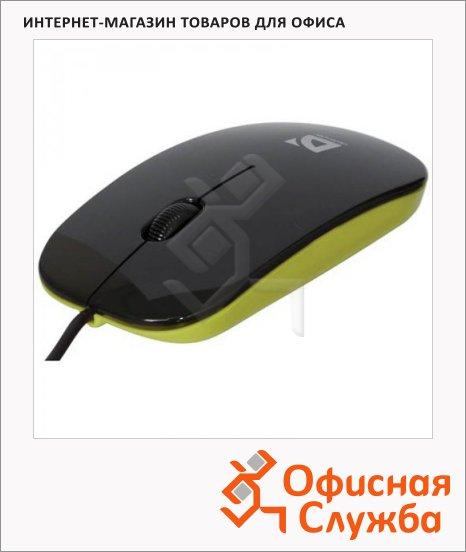 фото: Мышь проводная оптическая USB Defender NetSprinter 440 черно-зеленая 1000dpi, 52446