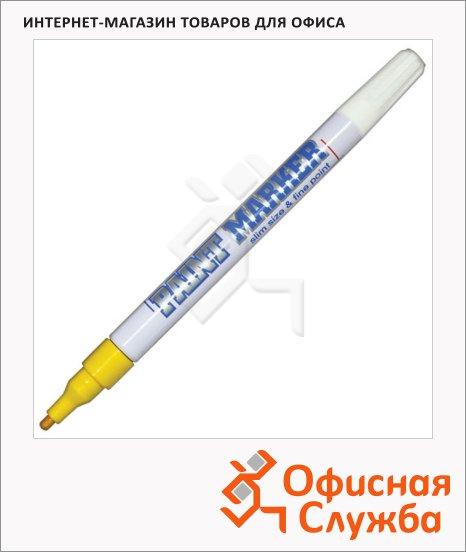 фото: Маркер-краска Munhwa Slim Size желтый пулевидный наконечник, нитро-основа, 2 мм