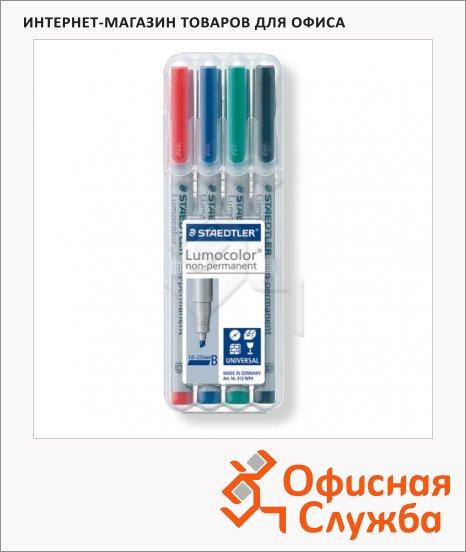 фото: Маркер стираемый Staedtler Lumocolor набор 4 цвета 1-2.5мм, круглый наконечник