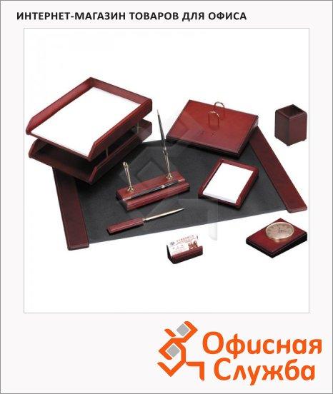 фото: Набор настольный Delucci 9 предметов красное дерево, с часами