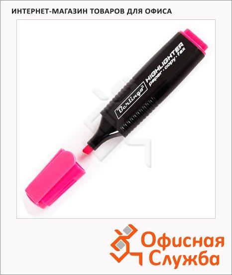Текстовыделитель Berlingo розовый, 1-5мм, скошенный наконечник